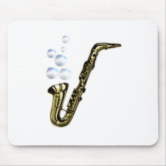 The Bubble Saxophone Mouse Pad