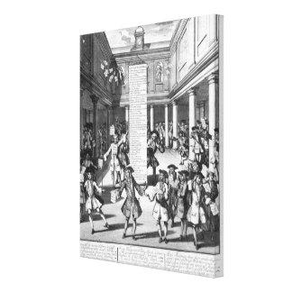The Bubblers Bubbl'd, 1720 Canvas Print