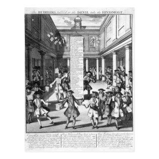 The Bubblers Bubbl'd, 1720 Postcard