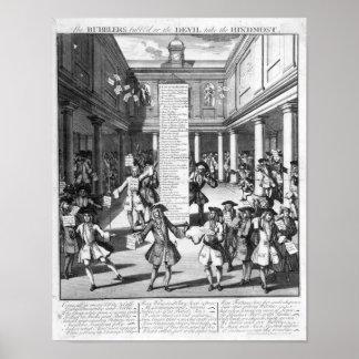 The Bubblers Bubbl'd, 1720 Poster