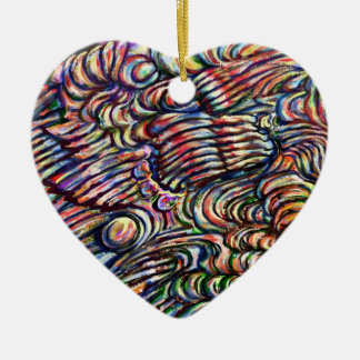 The Bubbles - abstract design ornament. Ceramic Ornament