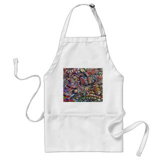 'The Bubbles' abstract painted Aprons