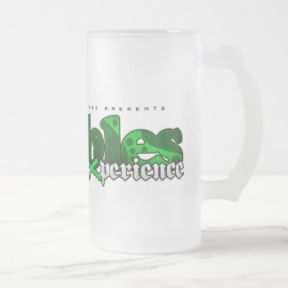 The Bubbles Experience Frosted Glass Mug