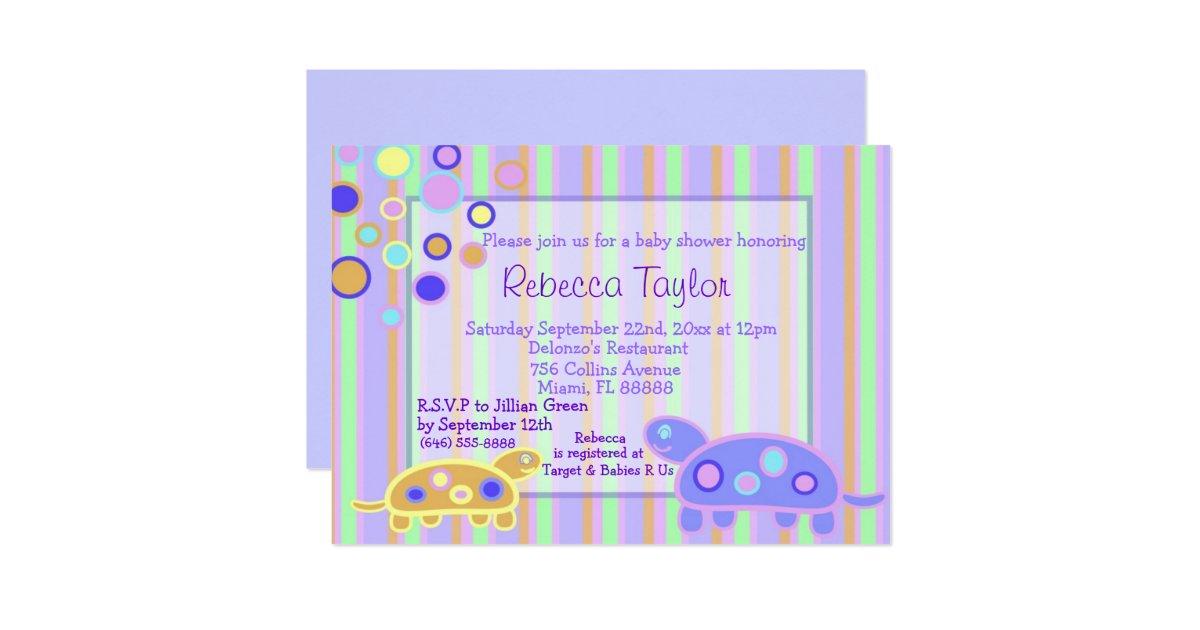 the bubbly turtle baby shower invitation zazzle