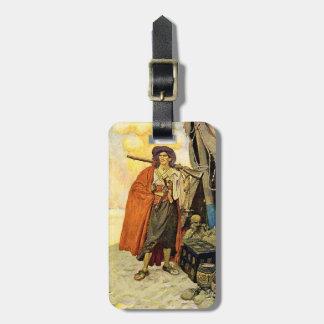 The Buccaneer - pirate art Bag Tag