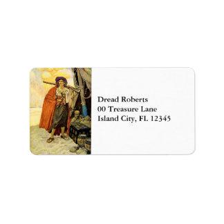 The Buccaneer - pirate art Label