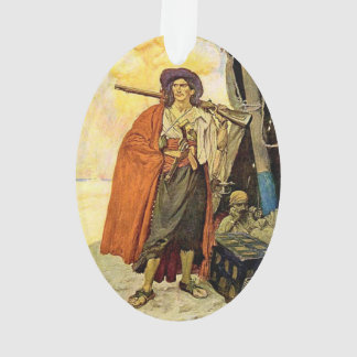 The Buccaneer - pirate art Ornament