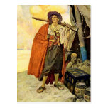 The Buccaneer - pirate art Postcard