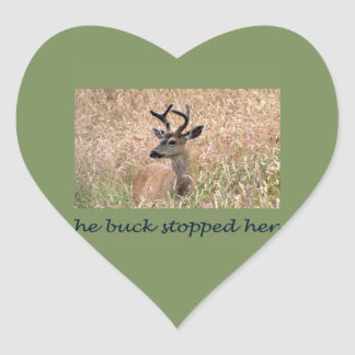 The Buck Stopped Here (2) Heart Stickers