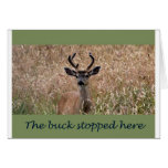 The Buck Stopped Here Greeting Card