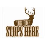 The Buck Stops Here Deer Hunter Postcard