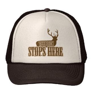 The Buck Stops Here Deer Hunter Trucker Hat