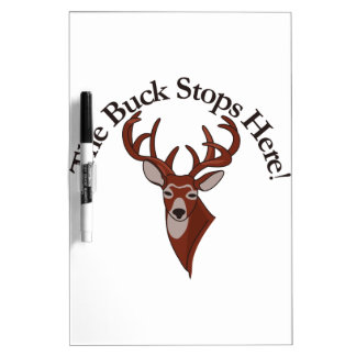 The Buck Stops Here! Dry-Erase Whiteboards