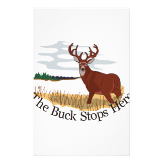 The Buck Stops Here Stationery