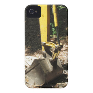 The bucket of the yellow excavator sits at rest iPhone 4 Case-Mate case