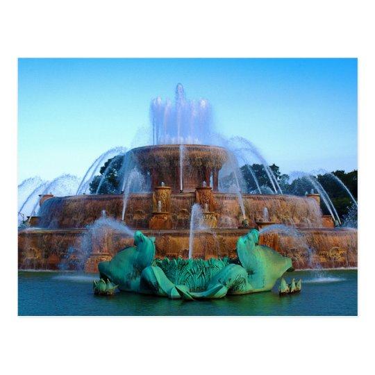 the Buckingham Fountain - Chicago Postcard