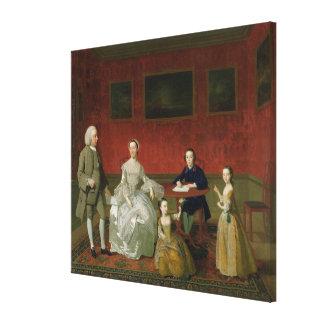 The Buckley-Boar Family, c.1758-60 (oil on canvas) Canvas Print