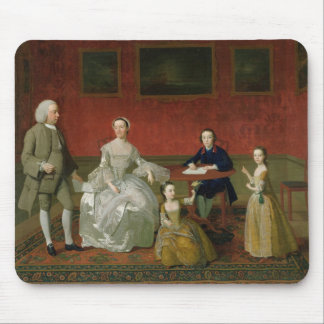 The Buckley-Boar Family, c.1758-60 (oil on canvas) Mouse Pad