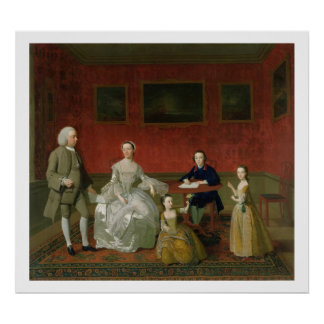 The Buckley-Boar Family, c.1758-60 (oil on canvas) Poster