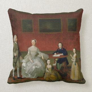 The Buckley-Boar Family, c.1758-60 (oil on canvas) Throw Pillow