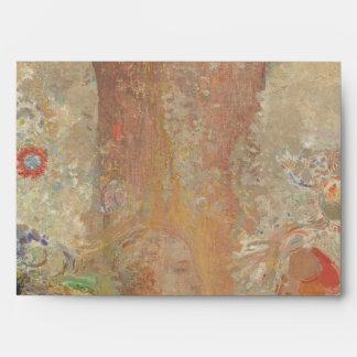 The Buddha by Odilon Redon Envelopes