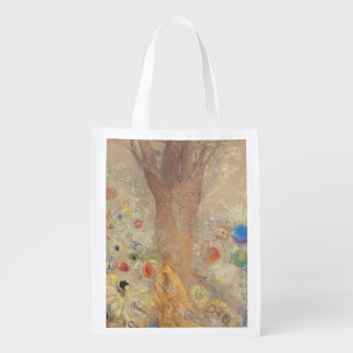 The Buddha by Odilon Redon Grocery Bag