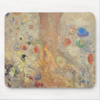 The Buddha by Odilon Redon Mouse Pad