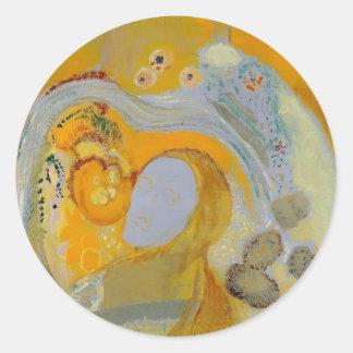 The Buddha by Odilon Redon Sticker