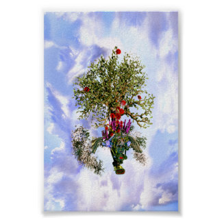 The Buddha's Flying Bodhi Tree in Heaven Poster