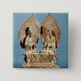 The Buddhas Prabhutaratna and Sakyamuni Button
