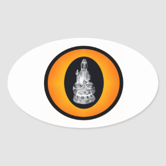 THE BUDDHIST SUN OVAL STICKER