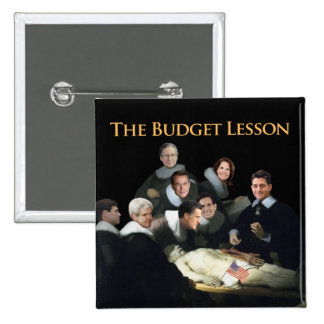 The Budget Lesson Pinback Buttons