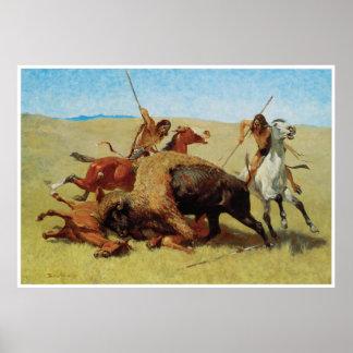 The Buffalo Hunt, 1890 Poster