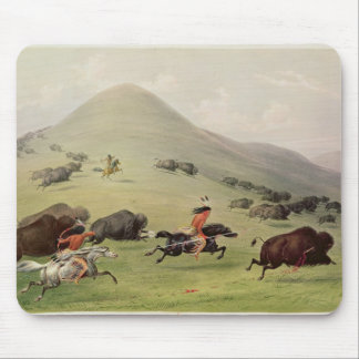 The Buffalo Hunt c 1832 Mouse Pads