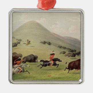 The Buffalo Hunt, c.1832 Christmas Tree Ornament