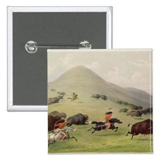 The Buffalo Hunt, c.1832 Pinback Button
