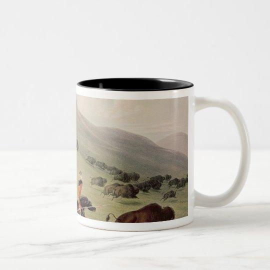 The Buffalo Hunt, c.1832 Two-Tone Coffee Mug