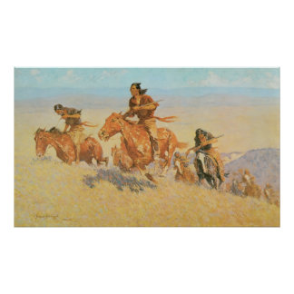 The Buffalo Runners, Big Horn Basin by Remington Poster