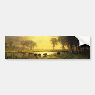 The Buffalo Trail,  Albert Bierstadt Bumper Sticker