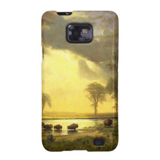 The Buffalo Trail Albert Bierstadt Samsung Galaxy S2 Case