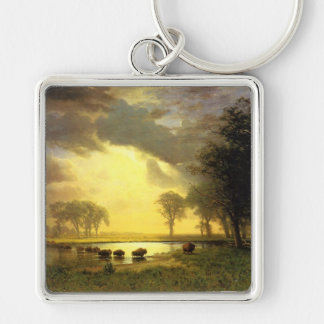 The Buffalo Trail,  Albert Bierstadt Keychain