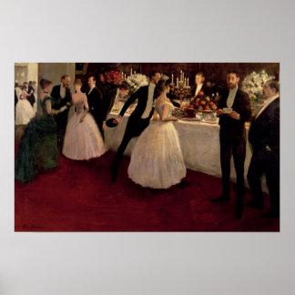 The Buffet, 1884 Poster