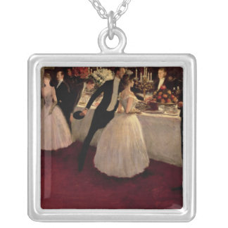 The Buffet, 1884 Square Pendant Necklace