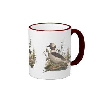 The Buffle-headed Duck(Fuligula albeola) Ringer Coffee Mug