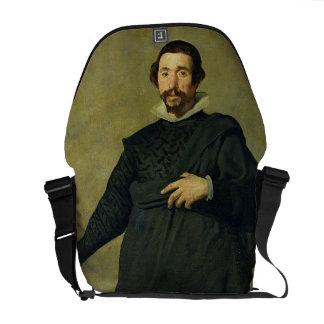 The Buffoon, Pablo de Valladolid, c.1635 (oil on c Messenger Bag