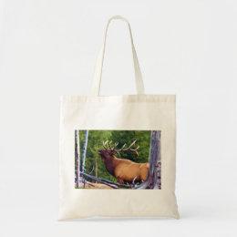 The Bugler Elk Bull Tote Bag