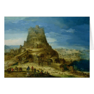 The Building of the Tower of Babel Card