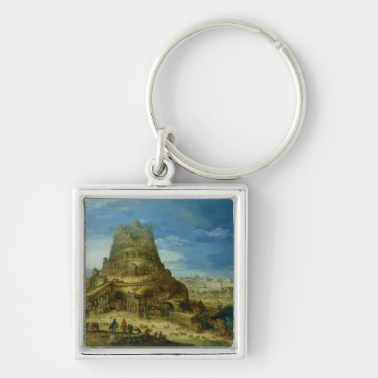 The Building of the Tower of Babel Keychain