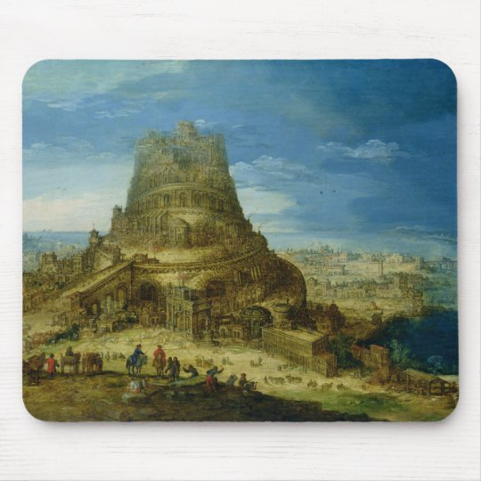 The Building of the Tower of Babel Mouse Pad