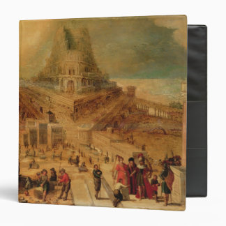 The building of the Tower of Babel (panel) 3 Ring Binder